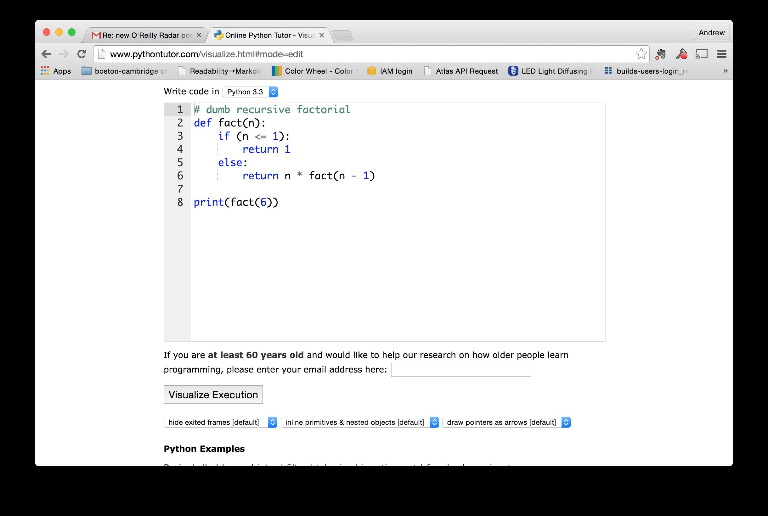patterns of code as media python tutor